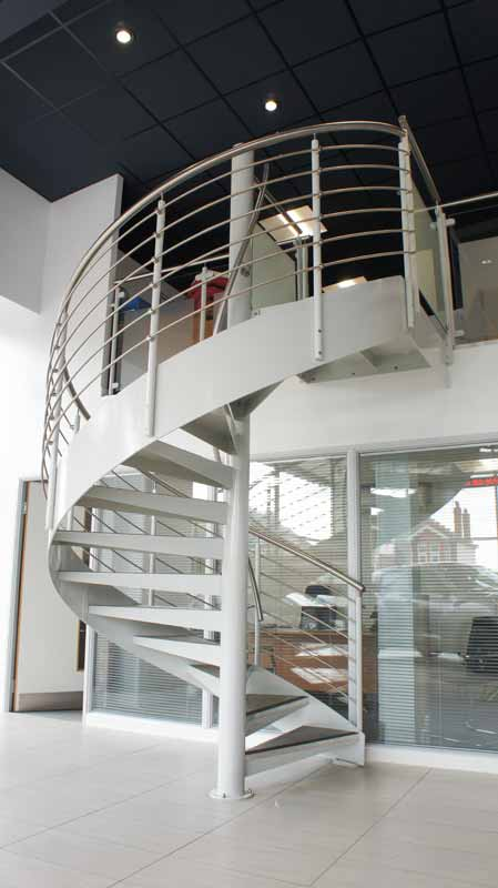 Spiral Staircase Brighton Supplied To A Car Showroom