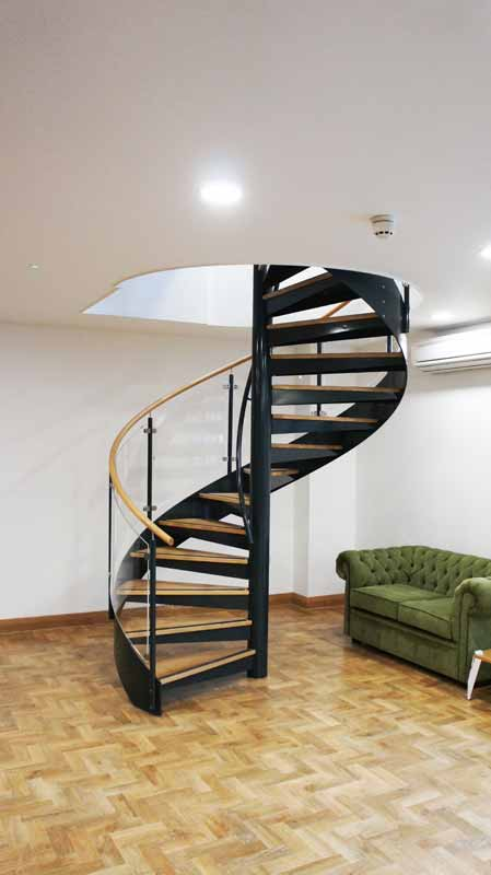 spiral staircase tewkesbury was a commerical spiral stair for an office