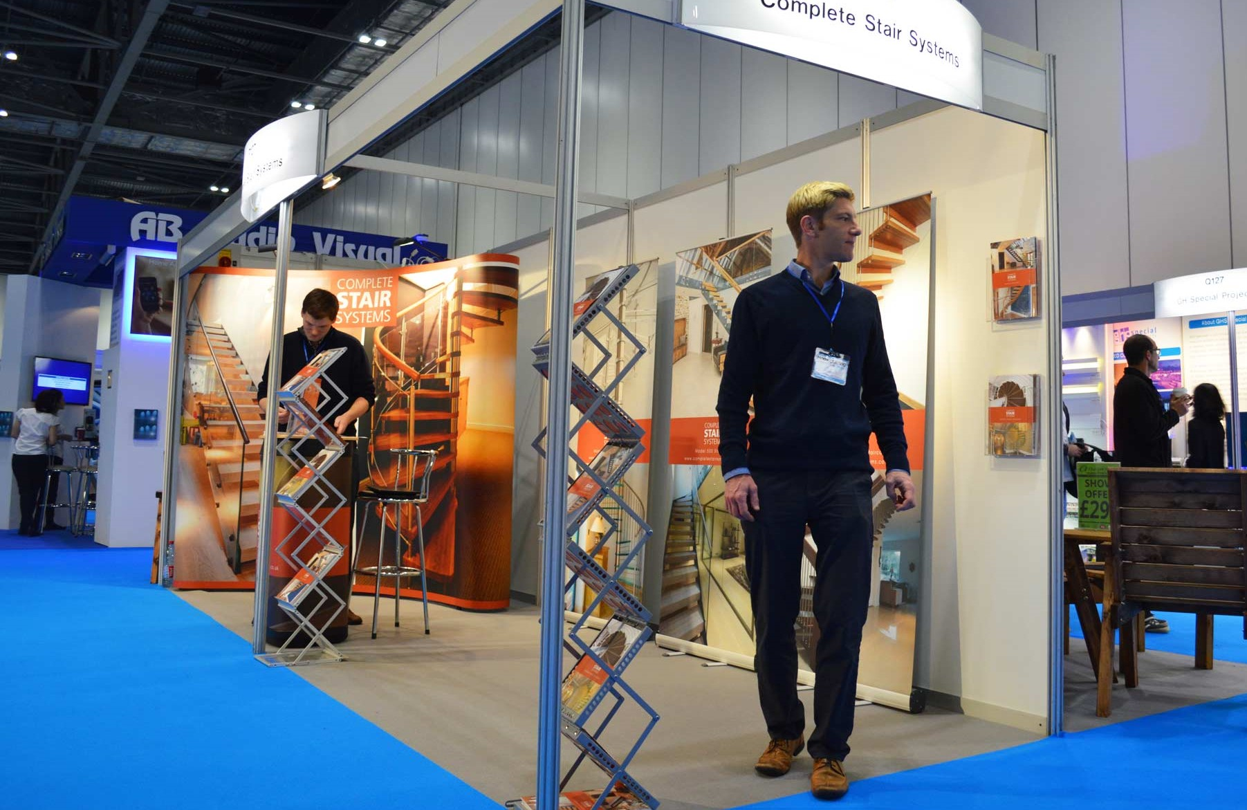 The Complete Stair Systems stand at an older exhibition