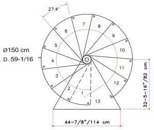 1500 diameter spiral stair
