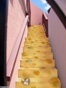 cheese stairs