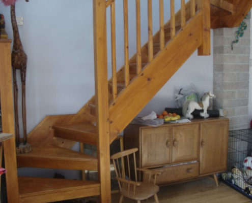 Old timber staircase