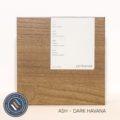 Ash timber sample in dark havana finish