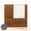 Ash timber sample in dark walnut finish