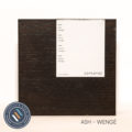 Ash timber sample in wenge finish