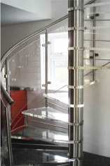 Acrylic spiral staircase in Romsey