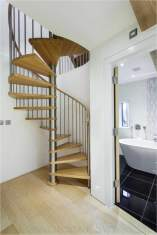 A beech spiral staircase in Gloucestershire
