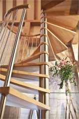 Beech spiral staircase in Guernsey