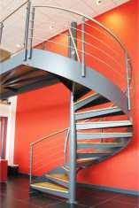 A commercial spiral staircase for a showroom in Exeter