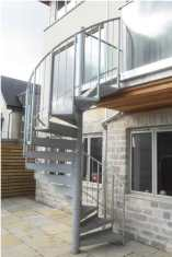 External spiral staircase for a project in Bath