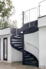 External spiral staircase in Rickmansworth