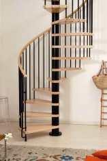 A Klan space saving kit spiral staircase