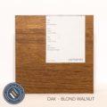 Oak timber sample in blond walnut finish