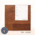 Oak timber sample in cherry finish