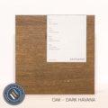 Oak timber sample in dark havana finish
