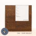 Oak timber sample in dove grey finish