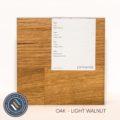 Oak timber sample in light walnut finish