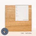 Oak timber sample in a natural finish