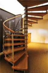 Oak spiral staircase in Nottingham