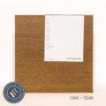 Oak timber sample in teak finish