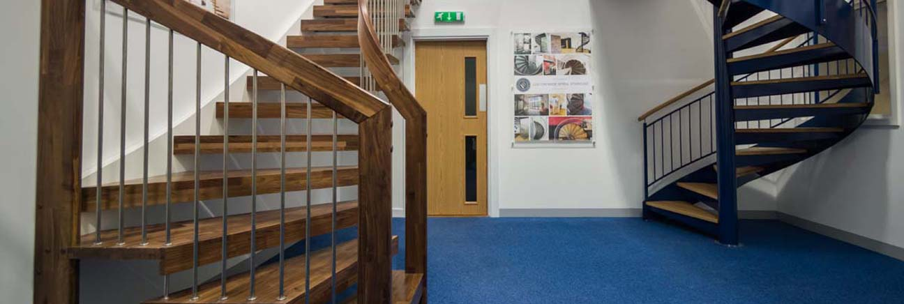 A snapshot of the Complete Stair Systems staircase showroom