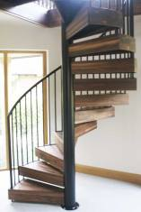 Walnut spiral staircase in Chichester