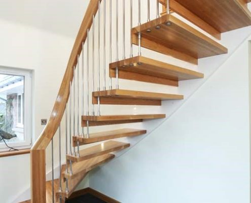 Timber staircase runner up photo