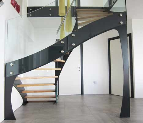 Winning photo of a steel staircase with timber treads