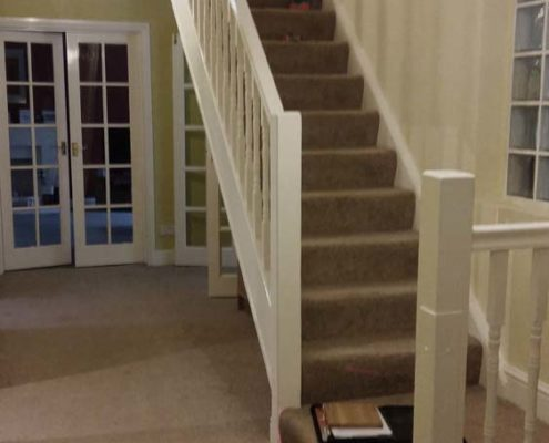Standard Carpeted Staircase