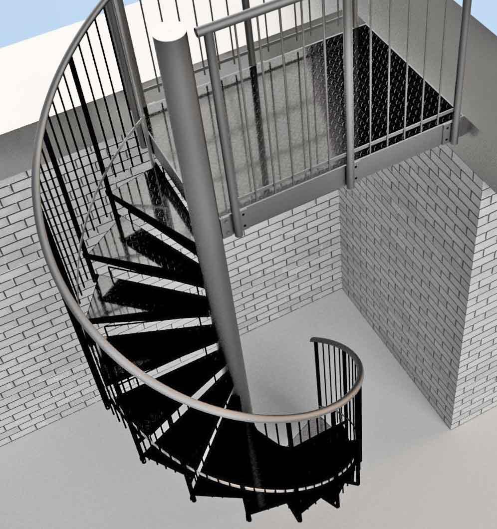 Spiral-Stair-3-D-view