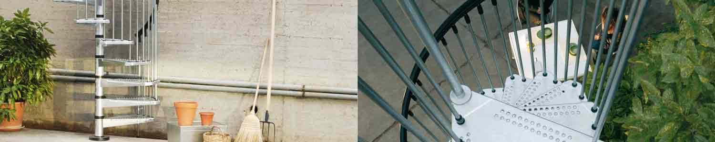 Civik Zink Spiral-Staircase