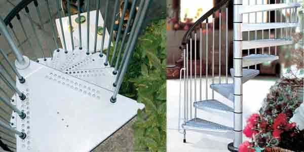Civik Zink Spiral Staircase