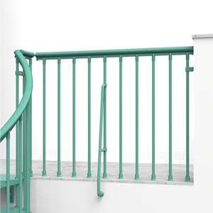 CLip Spiral Stair Landing Balustrade