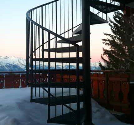 External Spiral Staircase in Switzerland