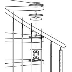 spiral stair exploded view