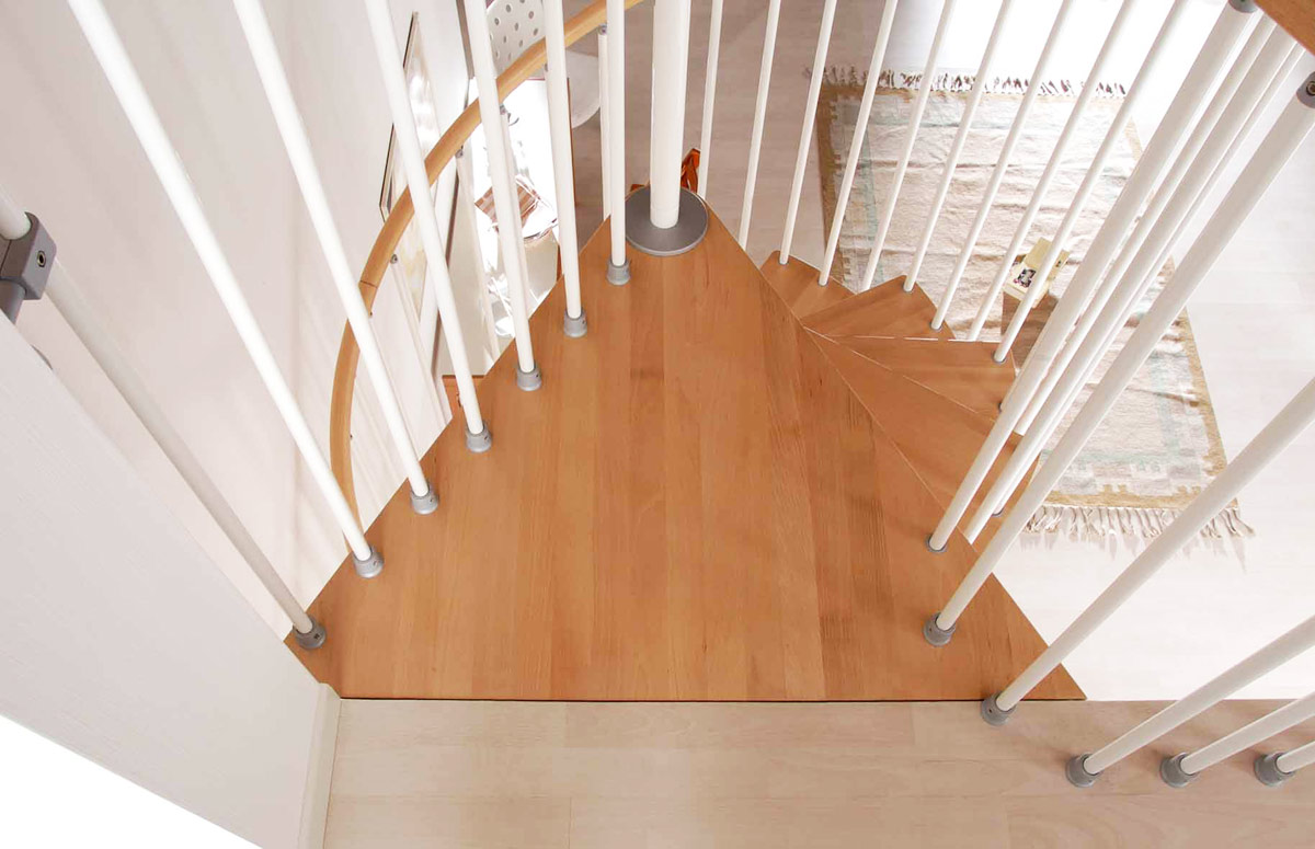 Klan Spiral Staircase With Beech Treads Click To View