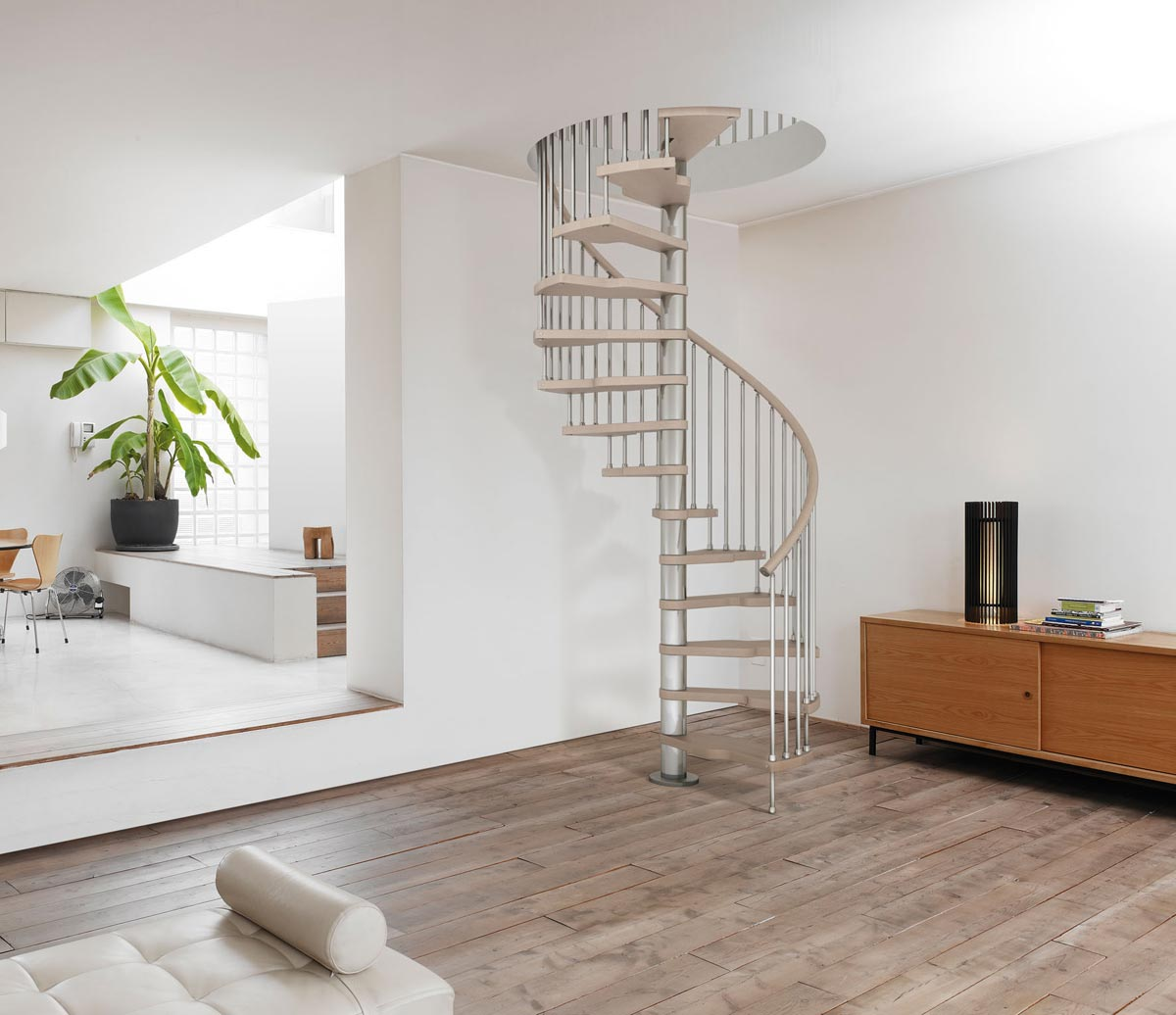 genius spiral staircase 030 with vertical steel spindles