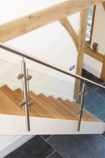 Posts and Glass balustrade
