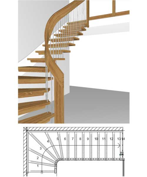Floating-Staircase-quarter-Turn