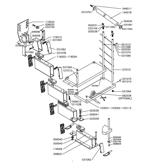 Genius-010-Stair-Exploded-diagram