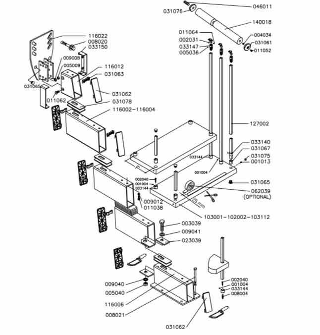 Genius-020-Stair-Exploded-diagram
